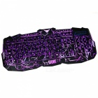 USB Wired 114-Key 3 Color Backlight Gaming Mechanical Feel Keyboard