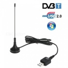 USB 2.0 Digital DVB-T HDTV TV Tuner USB Stick DVB-T USB Dongle - Black