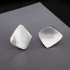 SILVERAGE Genuine 925 Sterling Silver Geometry Stud Earrings