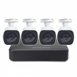 COTIER 720P 4CH AHD CCTV Camera + DVR System w/ 24-IR LED Night Vision