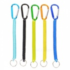 Outdoor Multifunctional Plastic Key Spring Rope - Mixed Color (5 PCS)