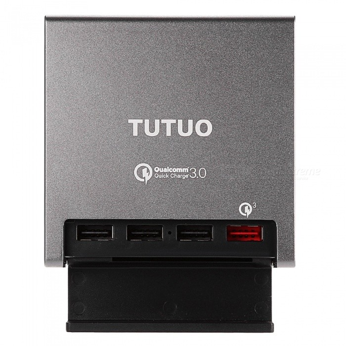 TUTUO 40W 4-Port QC 3.0 Quick Desktop USB Wall Charger (EU Plug)