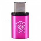 Hat-Prince USB Type-C to Micro USB Adapter Converter - Deep Pink