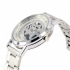 Dual-side Hollow-out Steel Alloy Material Men's Quartz Watch - Silver