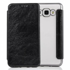 Flip Open PU Leather Case w/ Card Slots for Samsung Galaxy J7 (2016)