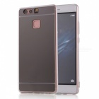 TPU + PC Mirror Back Case Cover for Huawei P9 - Translucent Black