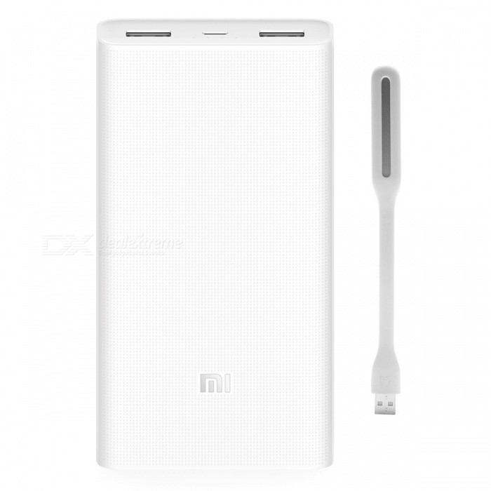 Xiaomi Mobile Power Bank 2 20000mAh + Xiaomi LED Light Enhanced -White