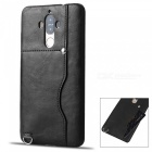 Protective Leather Back Case w/ Card Slot for Huawei Mate 9