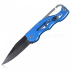 Outdoor Multi-functional Key Chain Folding Knife - Blue + Black