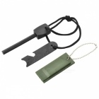 Outdoor Fire Starter Flint w/ Keychain for Calling for Help