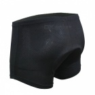 Arsuxeo Cycling Underwear Shorts w/ Coolmax 3D Chamois Pad - Black (M)