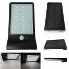 Ismartdigi 3.8W 36-LED Wall Light Solar Lamp Sensor Light - Black