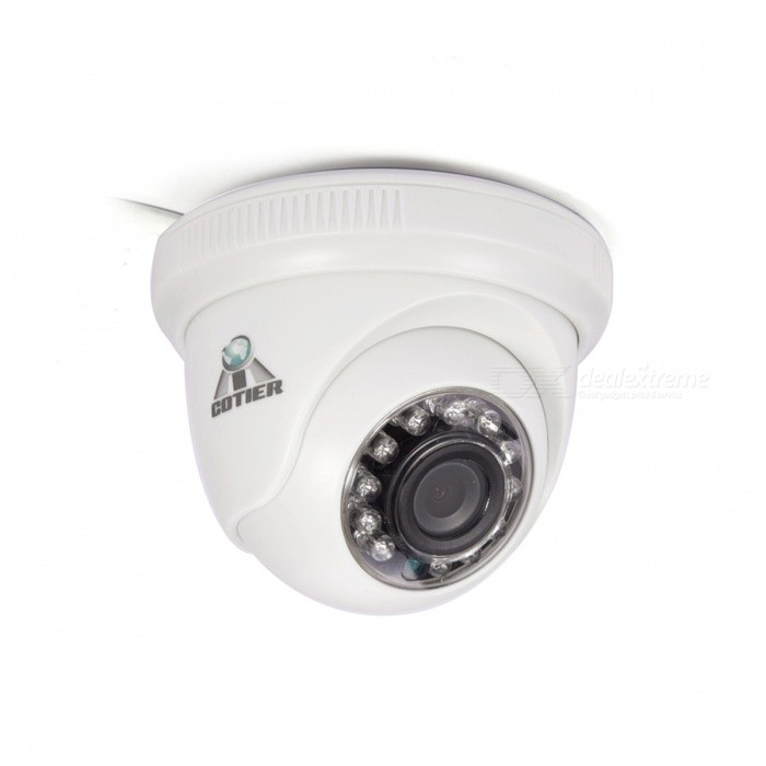 Cotier 1.0MP 720P Mini AHD CCTV Camera w/ 12-IR LED Night Vision