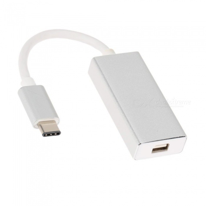 Kitbon USB 3.1 Type-C to Mini DisplayPort DP Adapter Cable - Silver