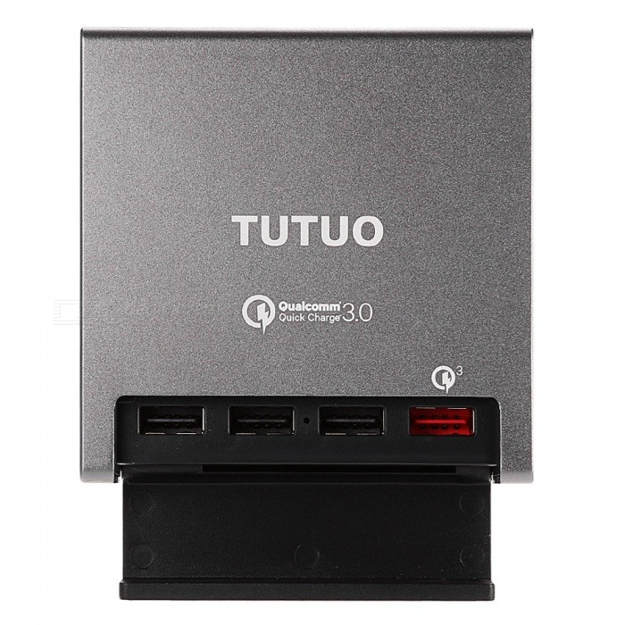 TUTUO 40W 4-Port QC3.0 Quick Desktop USB Wall Charger (US Plugs)
