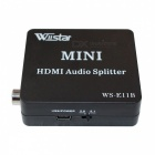 Wiistar WS_E11B 1080P HDMI to HDMI Audio Splitter - Black