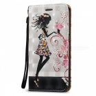 3D Flower Girl Pattern Magnetic Case for Samsung Galaxy S6 Edge