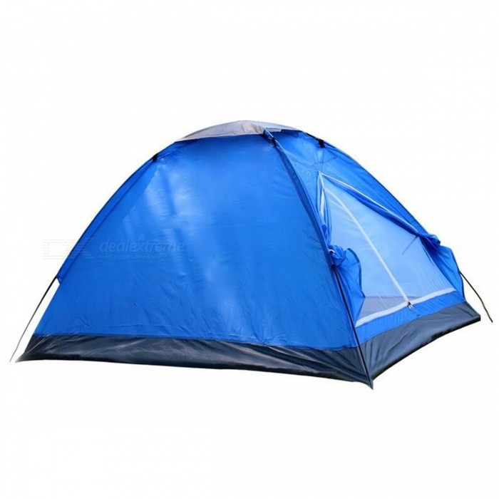 1 Door 2 Persons Outdoor Camping Beach Leisure Rainproof Tent - Blue