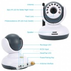 "2,4"" LCD 2,4 GHz Wireless Digital Babyphone w / 9-IR LED (EU-Stecker)"