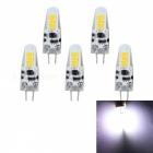 JRLED G4 2W 6-SMD 2835 Cold White LED Light Lamp (5 PCS)