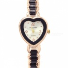 Chaoyada 1112 Fashionable Heart-shaped Dial Analog Quartz Wrist Watch