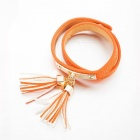 SILVERAGE Bracelet en cuir de borle d'orange