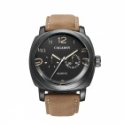 CAGARNY 6833 Fashion 2 Sub-dials Men's Quartz Watch - Brown