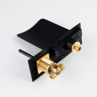 Wall Mounted Brass Oil-rubbed Brass Waterfall RGB LED Bathroom Faucet