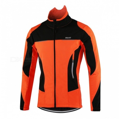 Arsuxeo Windproof Warm Up Men's Bicycle Clothing Coat Jacket (L)