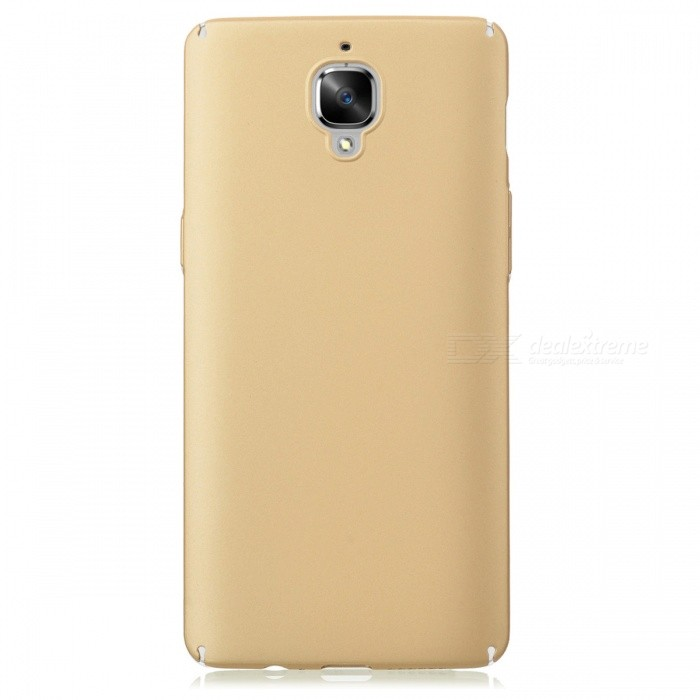 Dazzle Colour Rubber + PC Hard Shell Back Case for OnePlus 3 - Golden