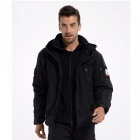 Shark Skin Soft Shell Army Coat Men's Waterproof Jacket - Black (XL)