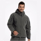 Shark Skin Soft Shell Army Coat Men's Waterproof Jacket - Gray (XXL)