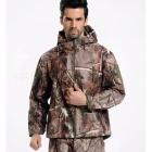 Shark Skin Soft Shell Men's Waterproof Coat Jacket - Tree Camo (XL)