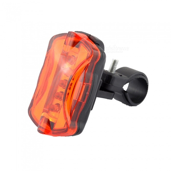 Adjustable Bike 5-LED 7-Mode Red Light Rear Tail LightBike Light<br>Form  ColorDark red + BlackModelCDQuantity1 DX.PCM.Model.AttributeModel.UnitMaterialPlasticEmitter BrandCreeLED TypeOthersEmitter BINOthersColor BINOthers,Red lightNumber of Emitters5Input Voltage3.7 DX.PCM.Model.AttributeModel.UnitBattery3 * AAABattery included or notNoCurrent2000 DX.PCM.Model.AttributeModel.UnitTheoretical Lumens500 DX.PCM.Model.AttributeModel.UnitActual Lumens400 DX.PCM.Model.AttributeModel.UnitRuntime8 DX.PCM.Model.AttributeModel.UnitNumber of Modes7Mode ArrangementHi,Slow Strobe,Fast Strobe,Others,Left,Right,Cycle,Entertaining diversionsMode MemoryNoSwitch TypeClicky SwitchSwitch LocationSideBeam Range10 DX.PCM.Model.AttributeModel.UnitStrap/ClipClip includedApplicationSeat Post,Handle Bar,SpokeHolder Diameter2~2.5 DX.PCM.Model.AttributeModel.UnitWaterproofYesPacking List1 x Bike taillight<br>