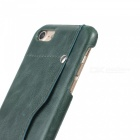 "Protective Leather Back Case w/ Card Slot for IPHONE 7 4.7"" - Green"