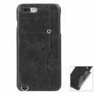 Protective Leather Back Case w/ Card Slot for IPHONE 7 Plus  - Black