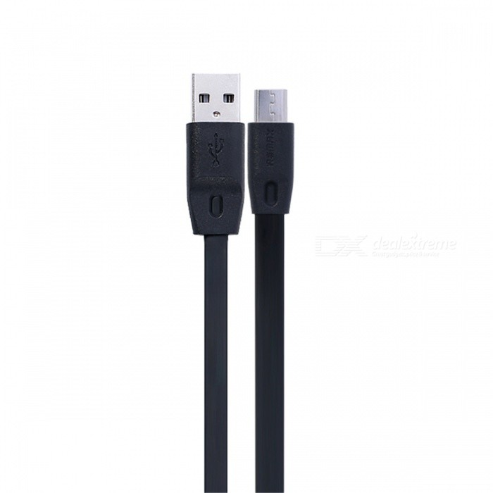 Remax 2.1A Quick Charge General Micro USB Cable 200cm - BlackCables<br>Form ColorBlack 2MMaterialTPE plastic layer and pure copper wire coreQuantity1 DX.PCM.Model.AttributeModel.UnitCompatible ModelsAndroid mobile phonesCable Length200 DX.PCM.Model.AttributeModel.UnitConnectorMicro USBSplit adapter number1Packing List1 x REMAX Micro USB Cable (200cm)<br>