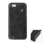 "Protective Leather Back Case w/ Card Slot for IPHONE 7 4.7"" - Black"