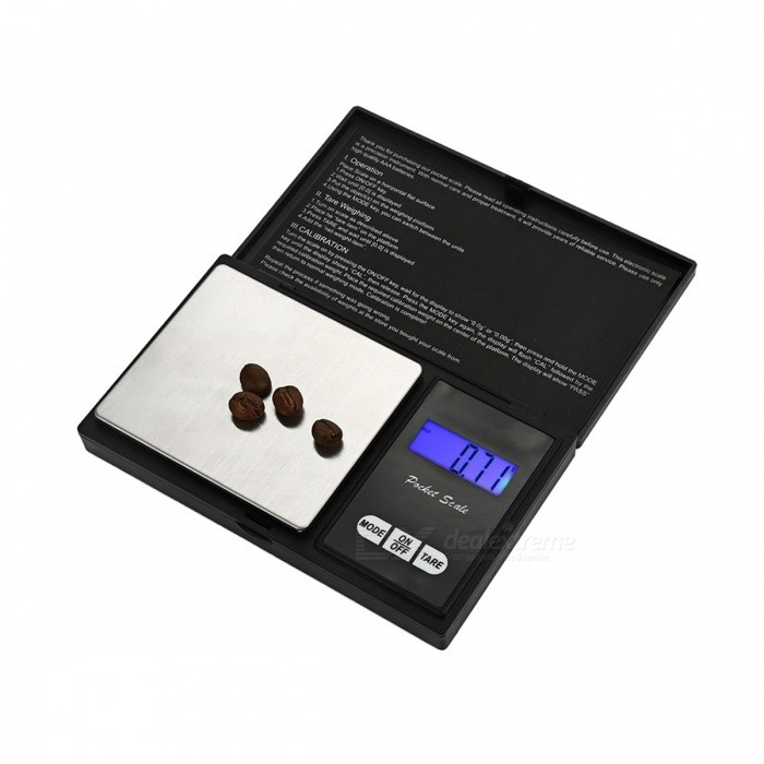 MH-815 200g/ 0.01g Precision Electronic Jewelry Scale - Black + Silver