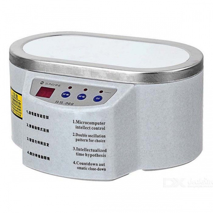 SS-968 Double Power Ultrasonic Cleaning Machine - Grey WhiteOther Tools<br>Form  ColorGrayish WhiteQuantity1 DX.PCM.Model.AttributeModel.UnitMaterialPlastic, Stainless steelPacking List1 x SS-968 Ultrasonic Cleaner<br>