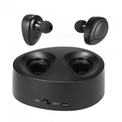 Mini Wireless Bluetooth v4.1 In-ear Stereo Sport Headset w/ Mic- Black