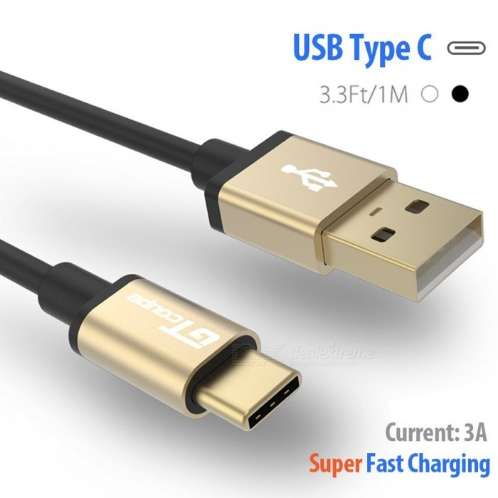 GTcoupe High Speed Gold Plated USB Type-C to USB Charge Cable (1m)Laptop/Tablet Cable&amp;Adapters<br>Form  ColorBlack + GoldModelix-c3023Quantity1 DX.PCM.Model.AttributeModel.UnitMaterialTPE + aluminum shellCertificationCE, ROHSPacking List1 x Cable<br>