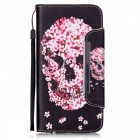 BLCR 3D Skull Pattern Leather Wallet Case for IPHONE 6 / 6S Plus