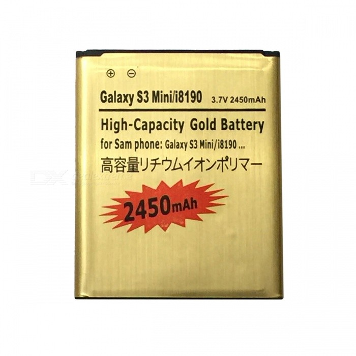 """2450mAh"" Battery for Samsung Galaxy S3 III Mini - Golden + Red"