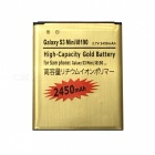 "Batterie""2450mAh"" pour samsung galaxy S3 III mini - or + rouge"