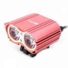 ZHISHUNJIA 4.2V-8.4V XML T6 LED 1600lm 4-Mode White Bike Light - Gules