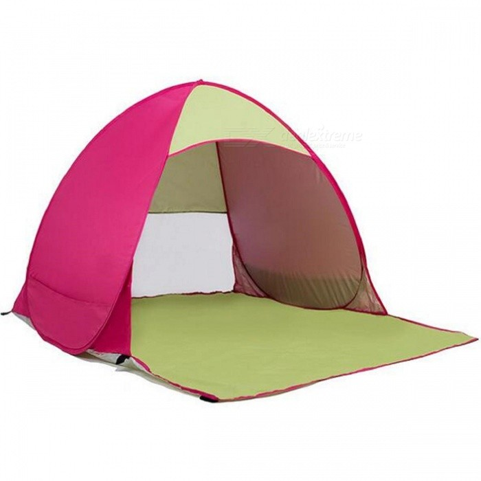 Outdoor Portable Automatic Pop Up 2 Person Beach Tent - Reddish Purple