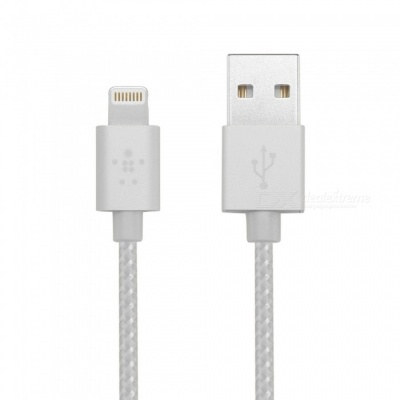 Belkin Metallic 2.4A Lightning to USB MFi Cable - Metal Silver
