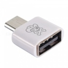 Hat-Prince HC-8 USB 3.1 Type-C to USB OTG Adapter Converter - White