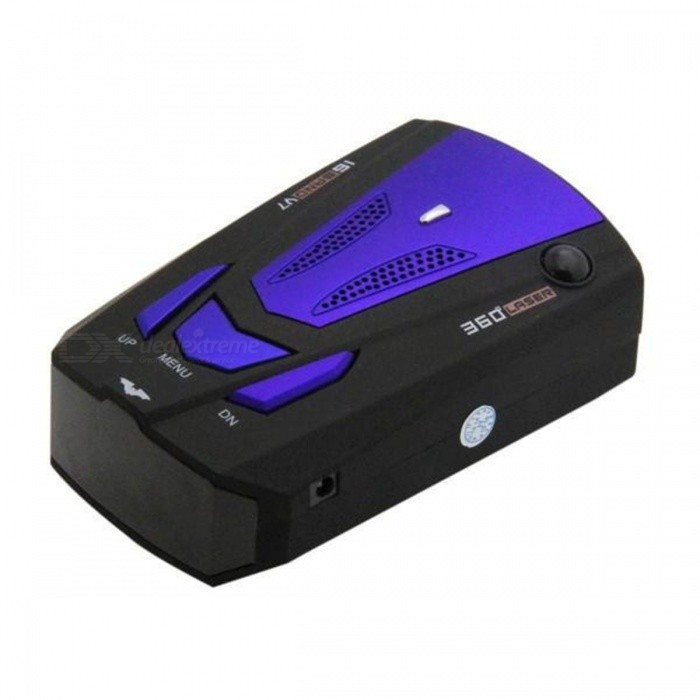 V7 Car Radar Detector for Car Speed Testing w/ 360 Degrees SignalRadar Detectors<br>Form  ColorBlack + BlueModel-Quantity1 DX.PCM.Model.AttributeModel.UnitMaterialABSFunctionRadar Detection,Laser Detection,Fixed Speed Detection,Frequency SwitchDetection ModeCity,HighwaySupport BandK,Ku,Ka,Laser,VG-2Screen Size6 DX.PCM.Model.AttributeModel.UnitWarning ModeVoice alarmWarning LanguageEnglishDetection Range800~1500 DX.PCM.Model.AttributeModel.UnitDetection Angle360 DX.PCM.Model.AttributeModel.UnitSupported LanguagesEnglish,Simplified Chinese,RussianWorking Voltage   12 DX.PCM.Model.AttributeModel.UnitWorking Current1 DX.PCM.Model.AttributeModel.UnitPacking List1 x V7 Radar detector1 x Car charger1 x Anti-slip mat<br>